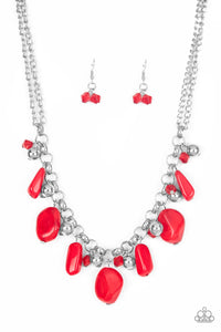 "Paparazzi Necklace ""Grand Canyon Grotto"" - Red"