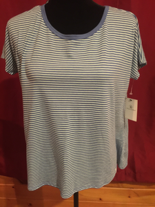 LADIES Top by Volcom, Blue striped, Size S