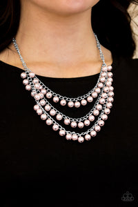 "Paparazzi Necklace ""Chicly Classic"" - Pink"