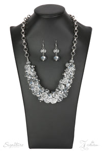 "Paparazzi Zi Collection Necklace & Earring Set ""The Erika"" - Silver"