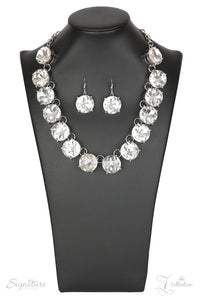 "Paparazzi Zi Collection Necklace & Earring Set ""The Marissa"" - CZ Rhinestones"