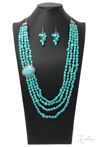 "Paparazzi Zi Collection Necklace & Earring Set ""The Maverick"" - Turquoise"