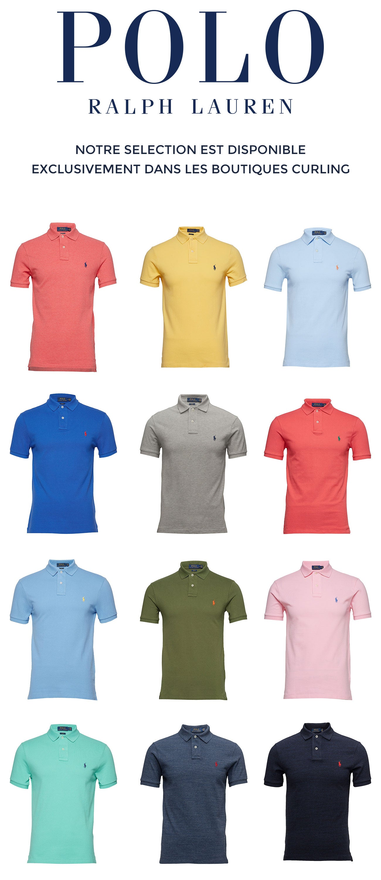Polos Ralph Lauren disponibles chez Curling