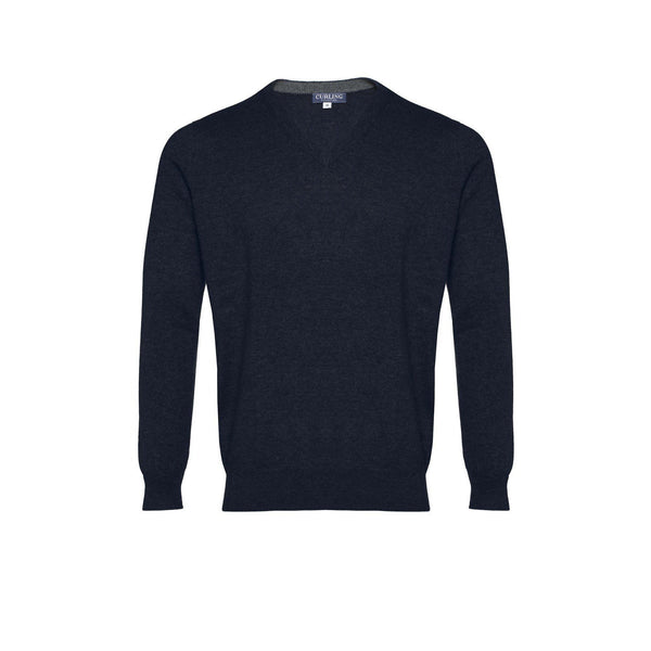 PULL CURLING COL V - MARINE-PULL HOMME-Curling-Paris