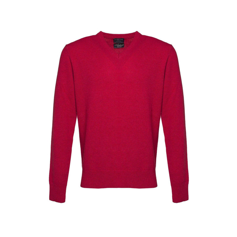 PULL CURLING COL V - ROUGE-PULL HOMME-Curling-Paris