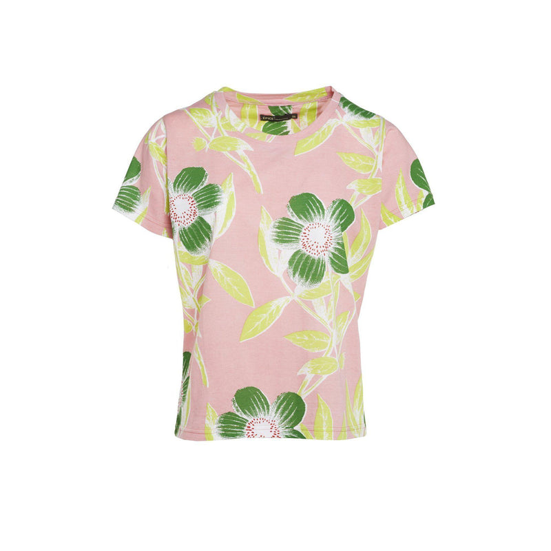 T-SHIRT CURLING À MOTIF - BLUSH-T-SHIRT FEMME-Curling-Paris