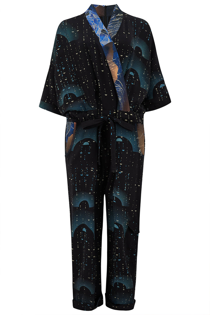 Sophie Darling Ray print Tencel jumpsuit front