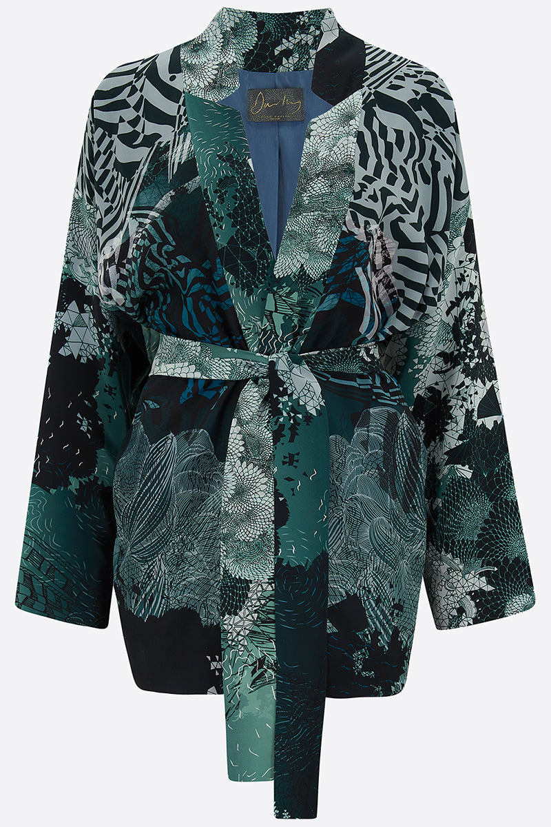 New Moon Satin Silk Tippi Jacket front view