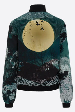 Sophie Darling New moon Silk Bomber Jacket back view