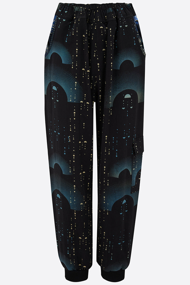 Sophie Darling Hand Printed Ray Joggers Front