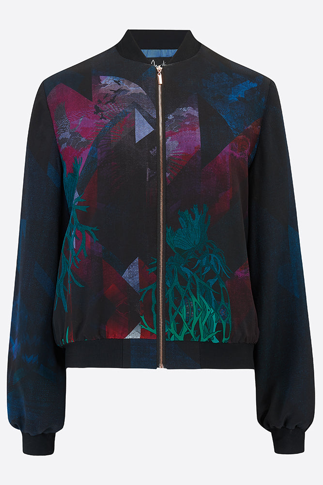 Blue Mountain Bomber Jacket-Bomber Jacket-Sophie Darling Design