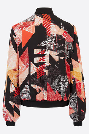 Christie Silk Bomber Jacket-Bomber Jacket-Sophie Darling Design