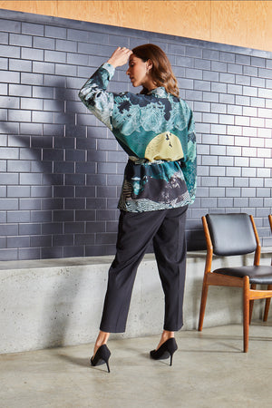New Moon Satin Silk Tippi Jacket