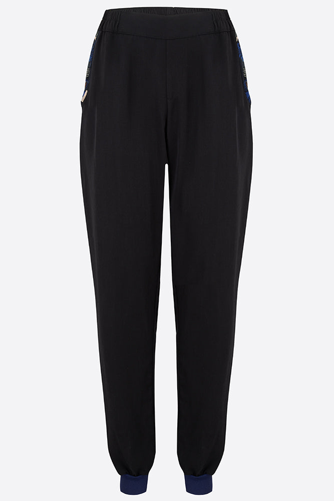 Black Tencel joggers