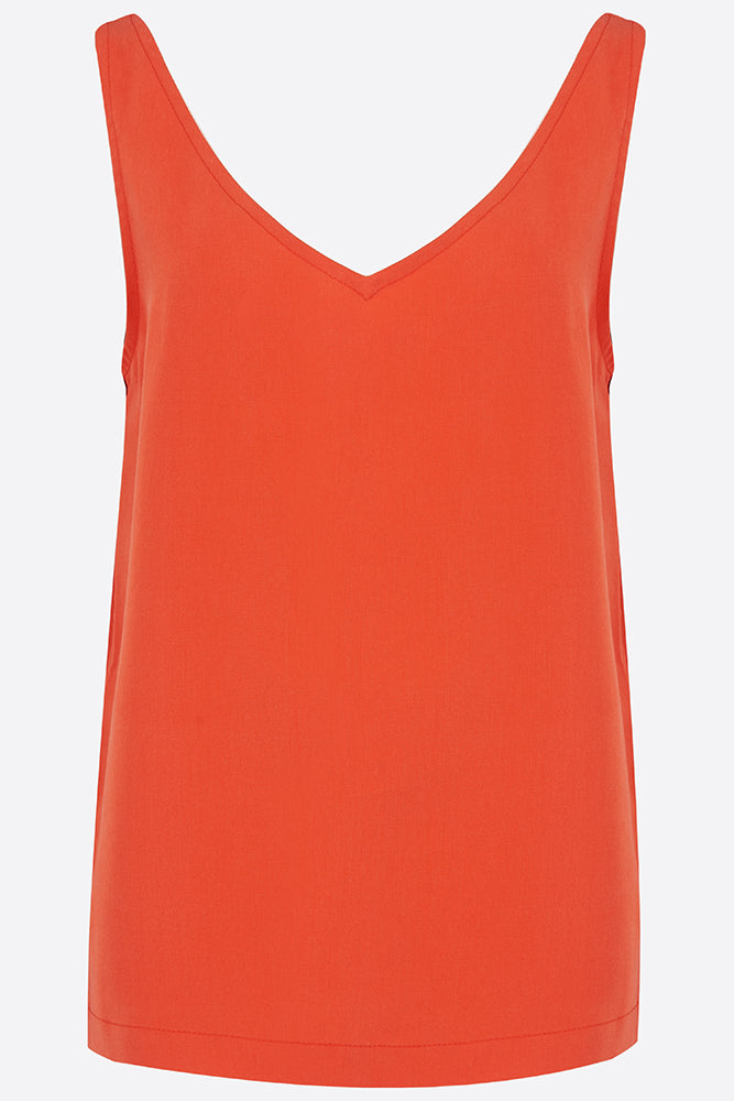 Coral red camisole vest