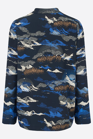 Sophie Darling Blue Jude Print Tencel Tailored Yohji Suit jacket Back View