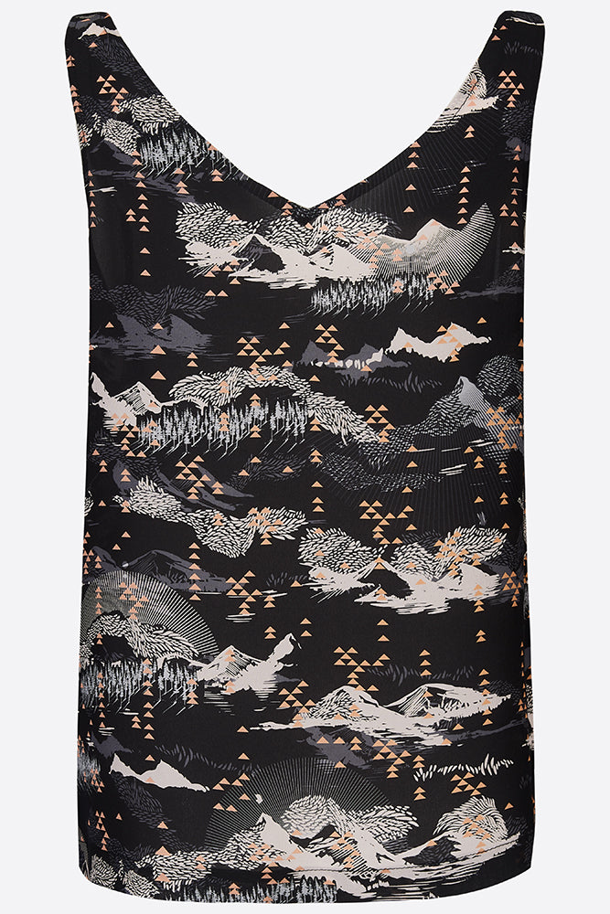 Sophie Darling Tate Print Silk Crepe De Chine Camisole Vest