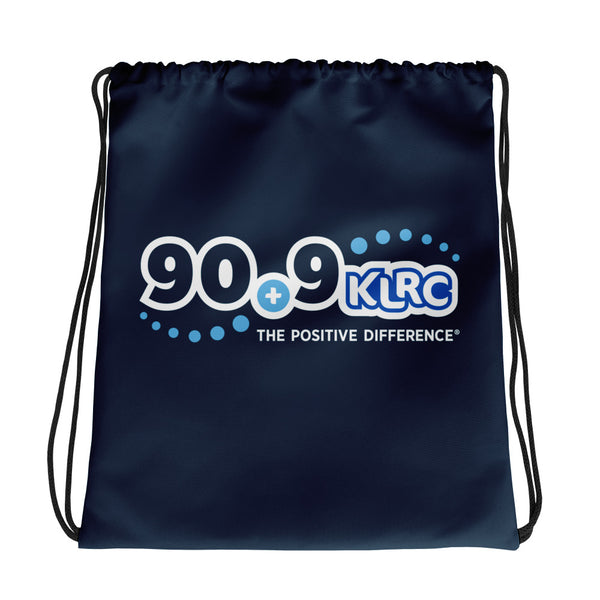 KLRC Navy Drawstring Bag
