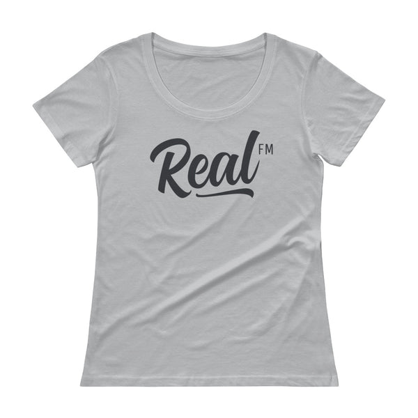 Real FM Ladies' Scoopneck Tee