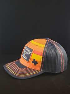 "Orange/Dark Blue ""Stros"" Cap"