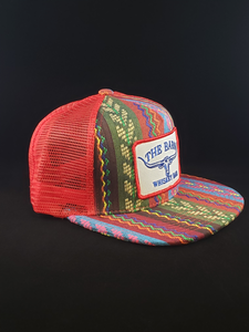 Aztec/Red w Green Stripe/Red Patch Cap