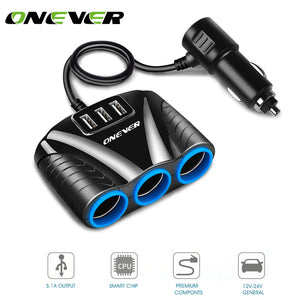 3 Way Auto USB Car Charger