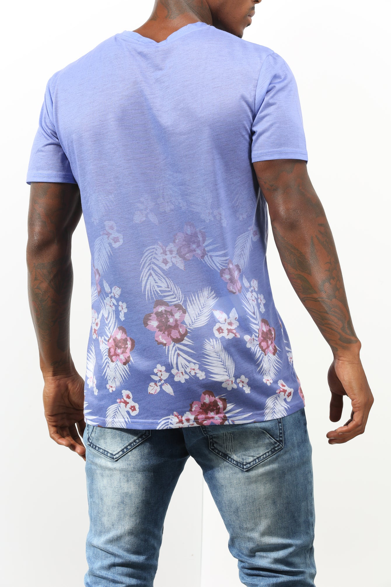Purple Floral Gradient Tee