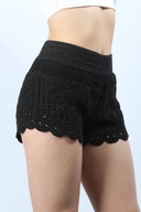 High Waisted Crochet Shorts