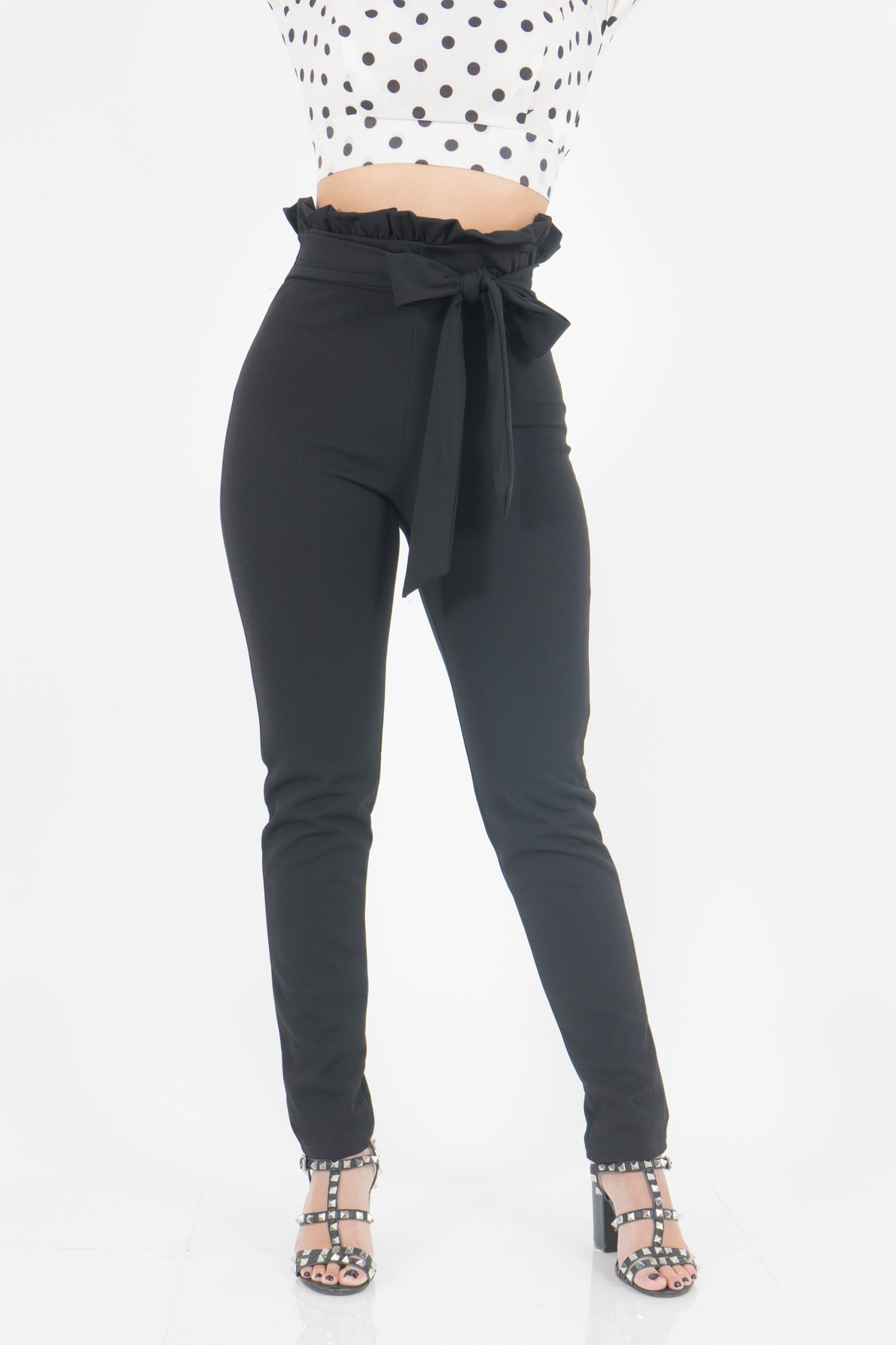 BOW BLACK PANTS