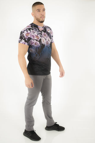 DARK FLOWERS SHORT SLEEVE