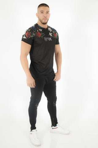 VBK FLOWERS SHORT SLEEVE