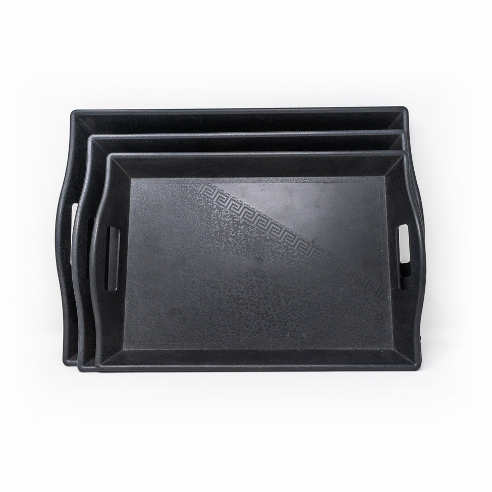 Black Tray Set - 3 Piece