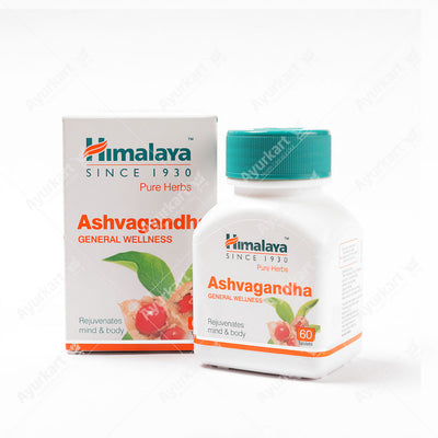 Ashwagandha / Ashvagandha  Tablets - Himalaya  (Rejuvenates mind and body) - ayur-kart