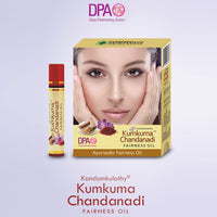 Kumkuma Chandadi Fairness Oil - 10ML -Kandamkulathy Vaidyasala