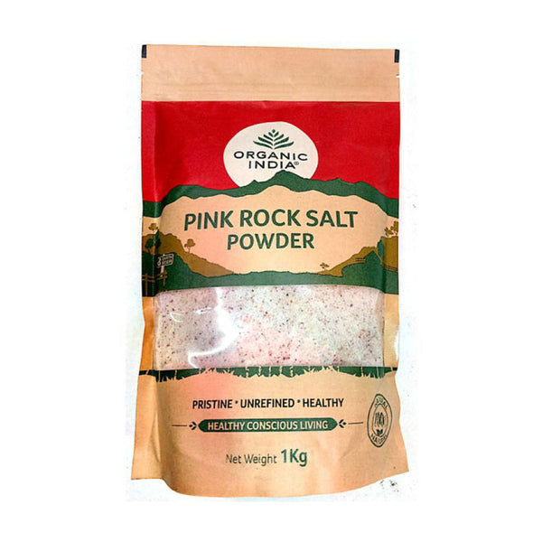 Pink Rock Salt Powder 1Kg - Organic India