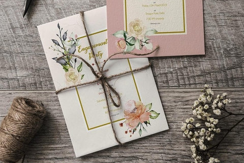 If you are having your wedding invitations in a more old-fashioned way, then this one is really for you. After finalizing your wedding invitation, get your rolls of rattail cord.