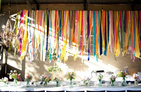 Use Colorful Wide Ribbons