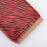 Red Zebra Print Satin Fabric 58x10 Yards