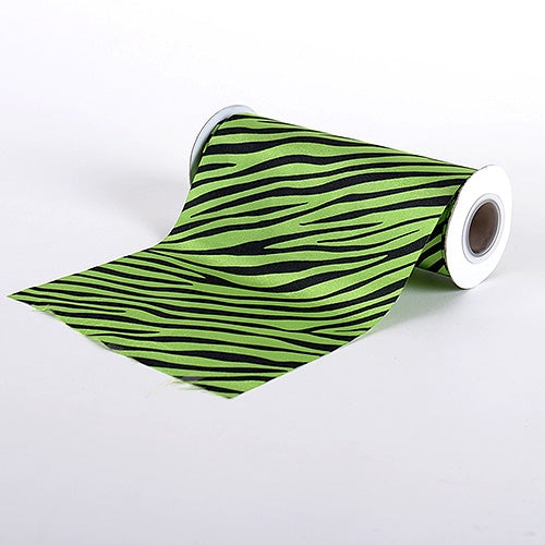Apple Green Animal Print Satin Fabric 6x10 Yards