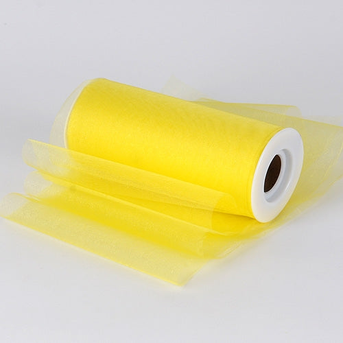 Yellow Premium Organza Fabric Spool 6x25 Yards