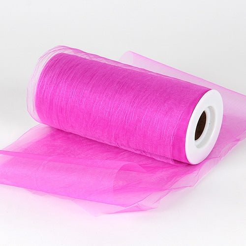 Fuchsia Premium Organza Fabric Spool 6x25 Yards