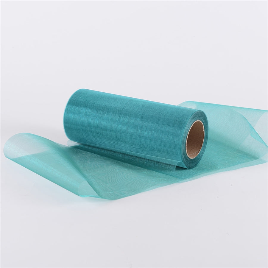 Teal Premium Organza Fabric Spool 6x25 Yards