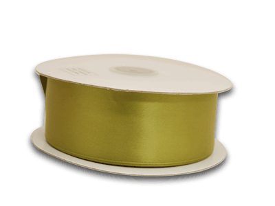 1/4 Inch Spring Moss Satin Ribbon 100 Yards