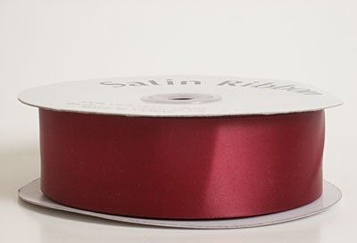 1/4 Inch Burgundy Satin Ribbon 100 Yards