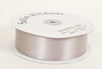 3/8 Inch Silver Satin Ribbon 100 Yards