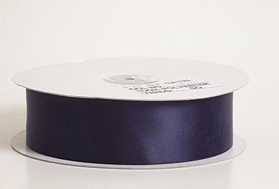 5/8 Inch Navy Blue Satin Ribbon 100 Yards