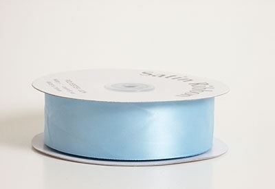 7/8 Inch Light Blue Satin Ribbon 100 Yards