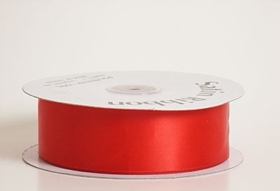 7/8 Inch Red Satin Ribbon 100 Yards