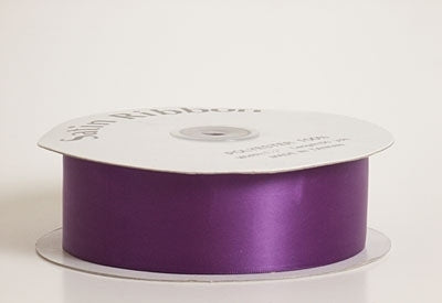 7/8 Inch Purple Satin Ribbon 100 Yards