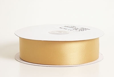 7/8 Inch Old Gold Satin Ribbon 100 Yards